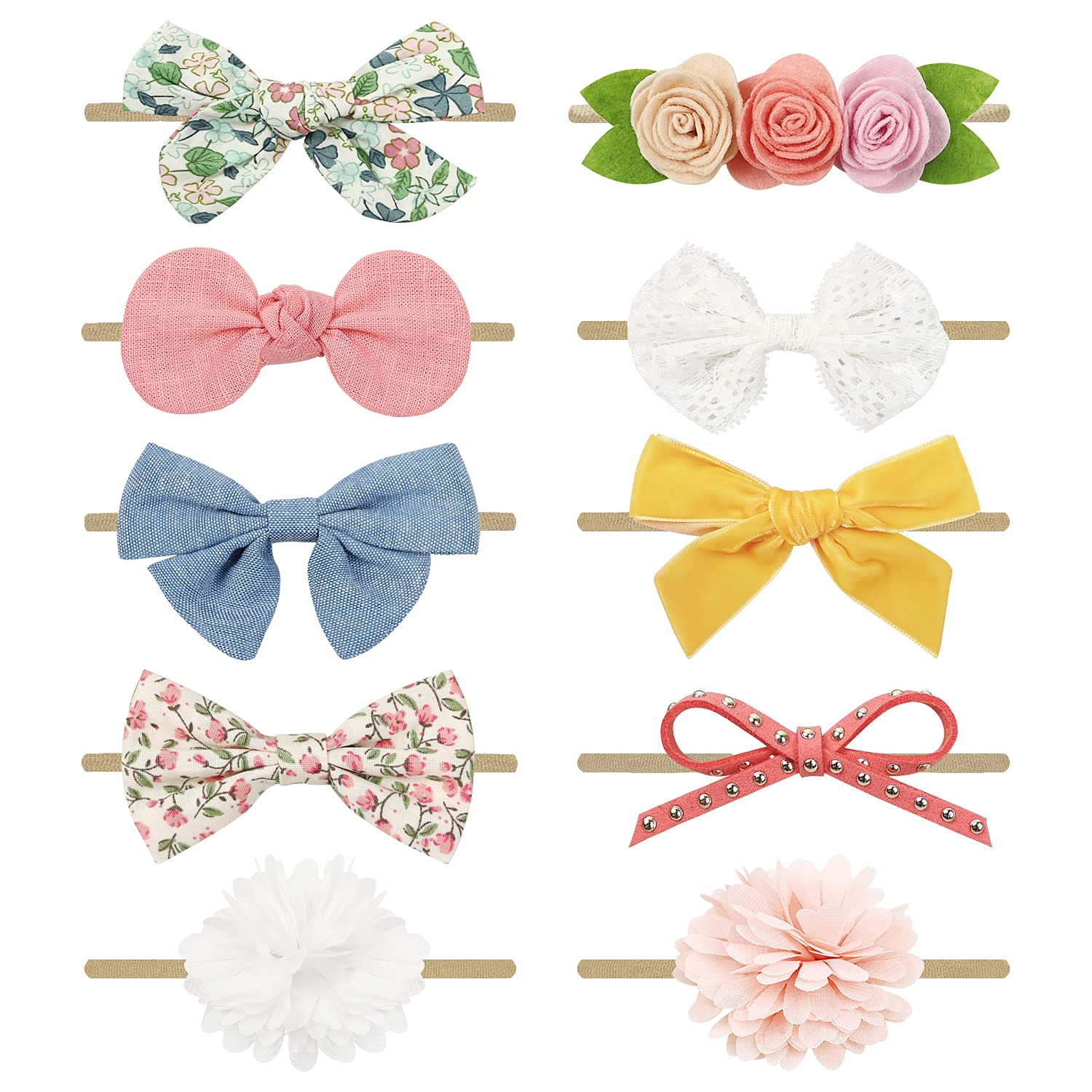 Baby Girl Headbands with Bows Acce Outlet SALE Hair Nylon Hairbands Free Shipping New Handmade