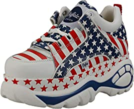Buffalo London 1339-14 2.0 Womens Platform Trainers in USA Flag - 6 US