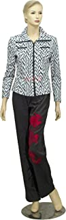 Women's Medium Black & White Fashion Jackets (Spring/Fall) Size 1X
