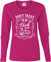 Don't Tread on Me Women's Long Sleeve Tee Liberty Or Death Gadsden Viper Snake