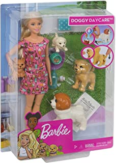 Barbie Doggy Daycare Doll & Pets, Blonde