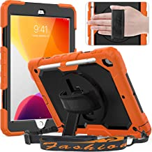 Timecity iPad 9th/ 8th/ 7th Generation Case (iPad 10.2 Case 2021/2020/ 2019) with Screen Protector Pencil Holder Kickstand...