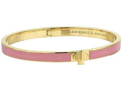 Kate Spade New York Heritage Spade Thin Enamel Spade Bangle (Rococo Pink) Bracelet