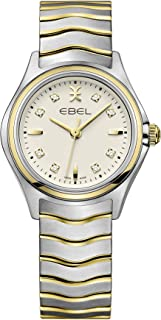 Ebel Ladies 1216480 Wave 18K Gold & Steel Swiss Quartz Watch Ivory