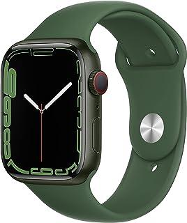 AppleWatch Series7 (GPS+ Cellular) - Caja de Aluminio en Verde de 45mm - Correa Deportiva Verde trébol - Talla única