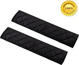 Seatbelt Pads,Car Belt Protector,Carsemoo Seat Belt Shoulder Strap Covers Harness Pads For Car/Bag,Soft Comfort Helps Protect You Neck And Shoulder From The Seatbelt Rubbing/Lrritation (Black 2-Pack)