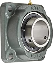 NTN UCFX15-300D1 Medium Duty Flange Bearing, 4 Bolts, Setscrew Lock, Regreasable, Contact and Flinger Seals, Cast Iron, 3