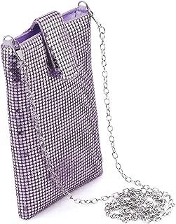 Evening Handbags Clutch Purses for Women Metal mesh Small Crossbody Bag Cell Phone Purse Wallet