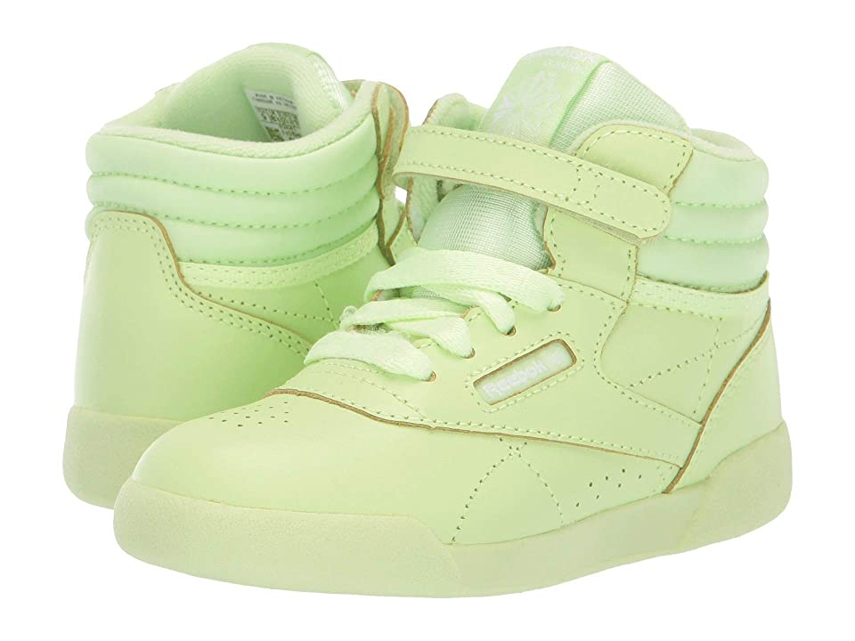 Reebok Kids F/S Hi Colors (Infant/Toddler) (Lime Glow/White) Girls Shoes