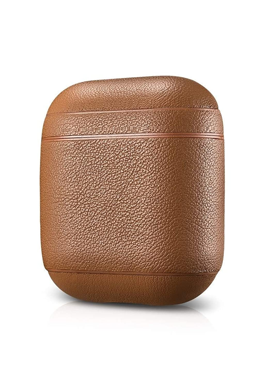 AirPods Case Leather - Protective Shockproof Handmade Premium Cover for Apple AirPods and AirPods with Wireless Charging Case (Nappa Brown)