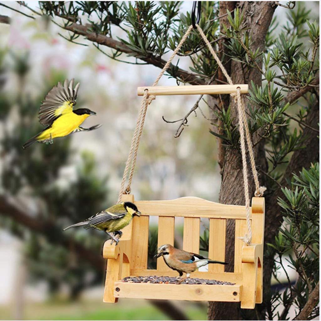 Yllyll Comedero for pájaros, oscilación del alimentador del pájaro alimentador de jardín jardín decoración Retro Villa de Aves al Aire Libre Viendo la Vida: Amazon.es: Productos para mascotas