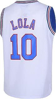 LOLA #10 Men's Basketball Jersey Space Movie Jersey S-XXXL White/Black
