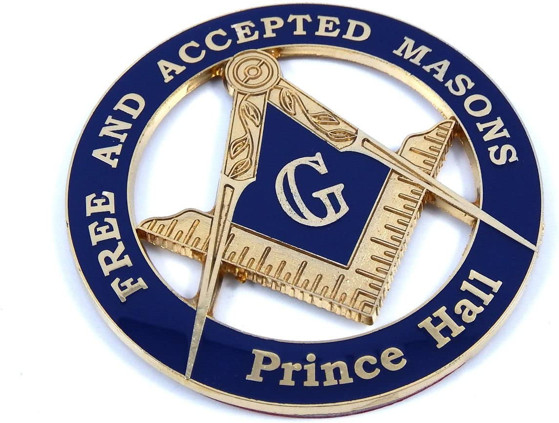 A-318 Masonic Auto Emblem FreeMasonry Car Lodge Mason Freemason PHA