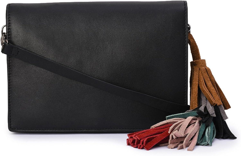 Phive rivers Women's Leather Cross Body Bag, Tan