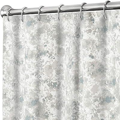 Extra Long Shower Curtain 84 Inch Fabric Shower Curtains for Bathroom Decor Gray Cloth Shower Curtain