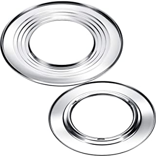 2 Pieces 11 Inch and 12 Inch Steam Ring, Stainless Steel Ste