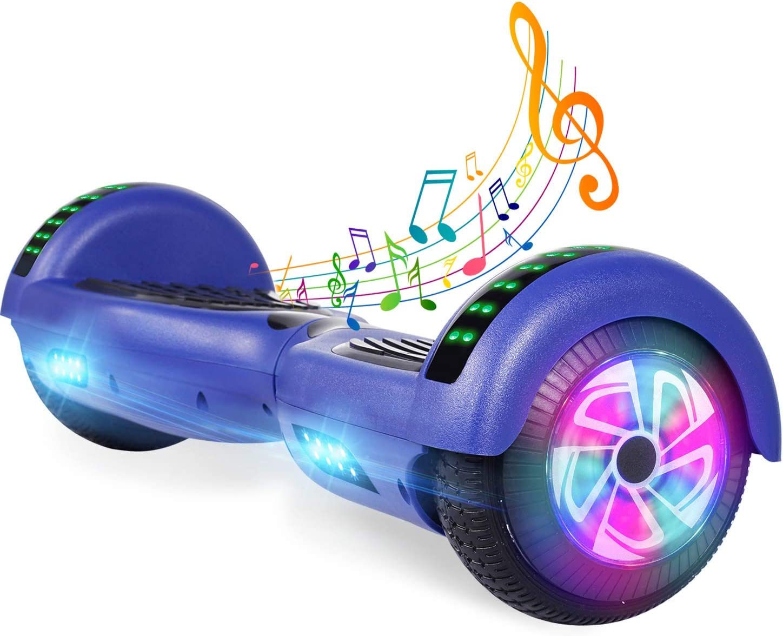 YHR 6.5 Inch Hoverboard with Bluetooth 海外並行輸入正規品 and 別倉庫からの配送 Speaker Wheels LED W