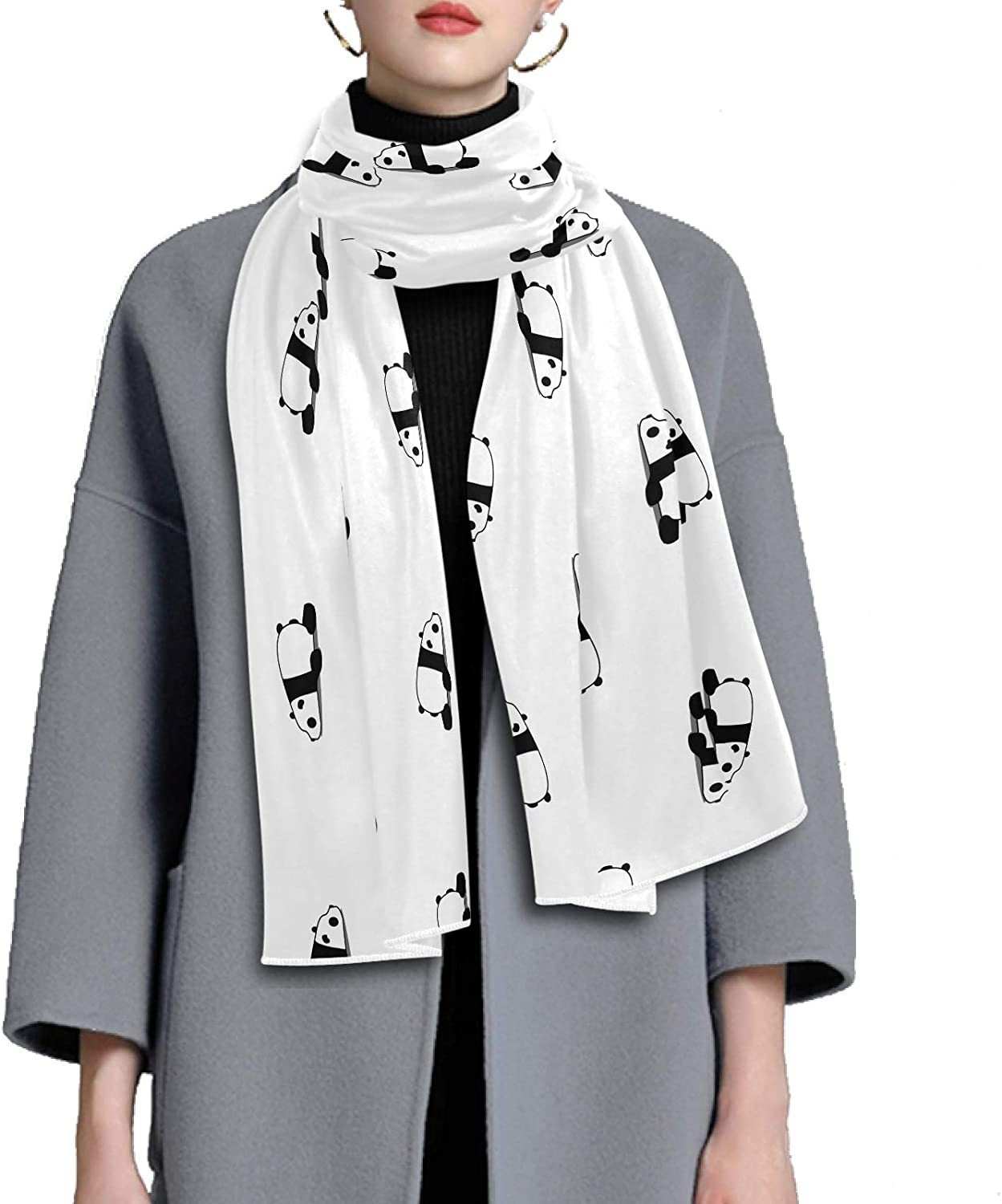 Scarf for Women and Men Lazy Panda Shawl Wraps Blanket Scarf Soft Winter Large Scarves Lightweight