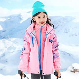 Girls Jackets Three-In-One Children Faction Overcomes High Quality (Color : Purple)