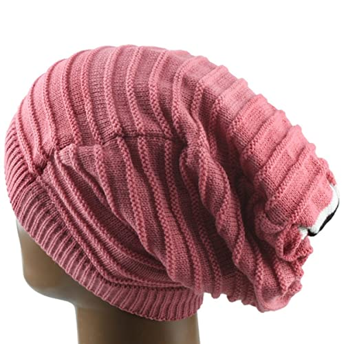 4c12cbdca9d Samtree Unisex Slouchy Beanie Hat Stripe Knit Cap Loop Scarf Neckerchief  Dreadlocks