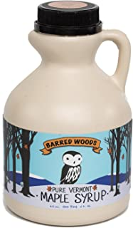 Pure Vermont Maple Syrup - One Pint Jug (16 oz) - Grade A Amber Rich - Barred Woods Maple