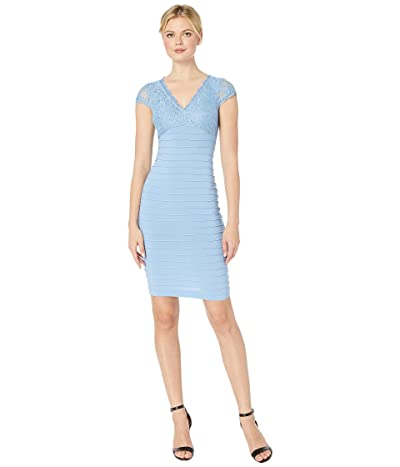 Adrianna Papell Lace Top Banded Sheath Dress (Rio Blue) Women