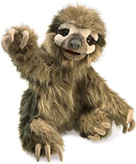 Folkmanis 3131 Three-Toed Sloth Hand Puppet, One Size, Multicolor