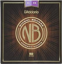 D'Addario Nickel Bronze Acoustic Guitar Strings, Light, 12-53