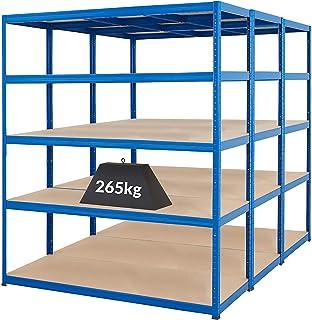 Mega Deal |PROMO| 3x étagères métalliques - profondeur 60 cm | 265 kg par tablette -