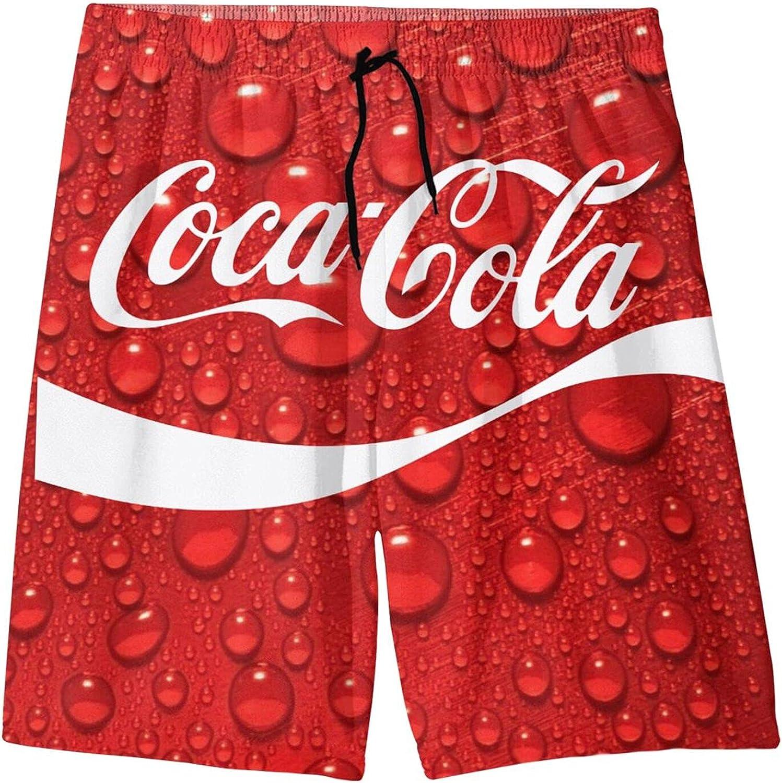 Co-Ca-Co-La Boys Girls Kids Youth Beach Shorts Quick Dry Hawaiian Shorts 3D Cool Hawaiian Shorts