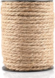 115 Feet 4mm Jute Thick Twine,Strong Hemp Rope,Natural Heavy Duty Twine for Crafts,Cat Scratch Post,Bundling,Gardening Applications