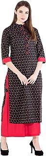 Harshana Women's Cotton Kurti With Palazzo Pants Set
