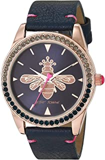 Queen Bee Dial Watch Blue/Rose Gold One Size