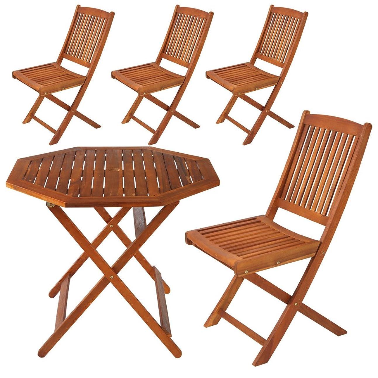 どのくらいの頻度で無数の実行ぼん家具 ガーデンテーブルセット テーブル&チェア4脚 木製 折りたたみ 屋外 ガーデン 庭 4人用 おしゃれ