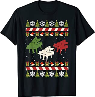 Christmas Piano Funny Ugly Sweater Xmas Pajamas Gift T-Shirt