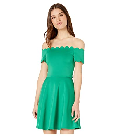 Ted Baker Fellama Bardot Scallop Skater Dress (Green) Women