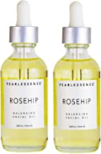 Pearlessence Rosehip Balancing Treatment Oil with Hydrating Antioxidant-Rich Rosehip Fruit Oil and Vitamin E, 1.8oz (2 Pack)