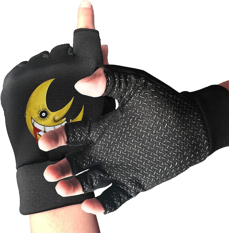 Soul Eater Moon Knitted Mittens Gloves Stretchy Warmer Fingerless Non Slip Gloves For Unisex