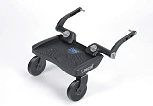 Lascal BuggyBoard Mini 3D, Kinderbuggy Trittbrett mit strukturierter Stehfläche, Kinderwagen Zubehör für Kinder von 2-6 Jahren 22 kg, kompatibel mit fast jedem Buggy und Kinderwagen, blau