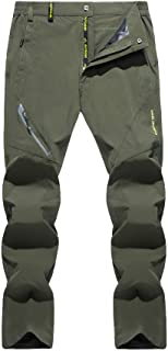 Men's Quick Dry Hiking Pants Water Resistant Lightweight and Ski Fleece Lined Mountain Pants