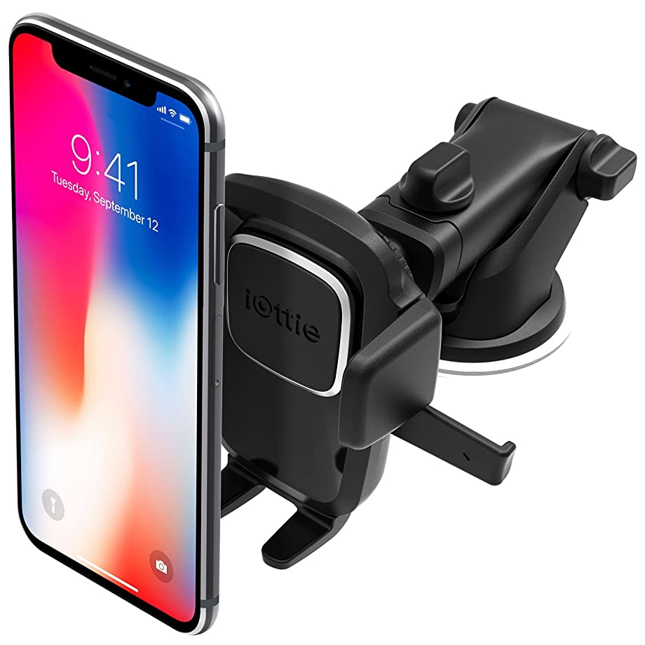 iOttie Easy One Touch 4 Dash & Windshield Car Mount Phone Holder || iPhone Xs Max R 8 Plus 7 Samsung Galaxy S10 E S9 S8 Plus Edge Note 9 & Other Smartphones