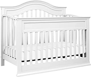 DaVinci Brook 4-in-1 Convertible Crib with Toddler Bed Conversion Kit in White   Greenguard Gold Certified