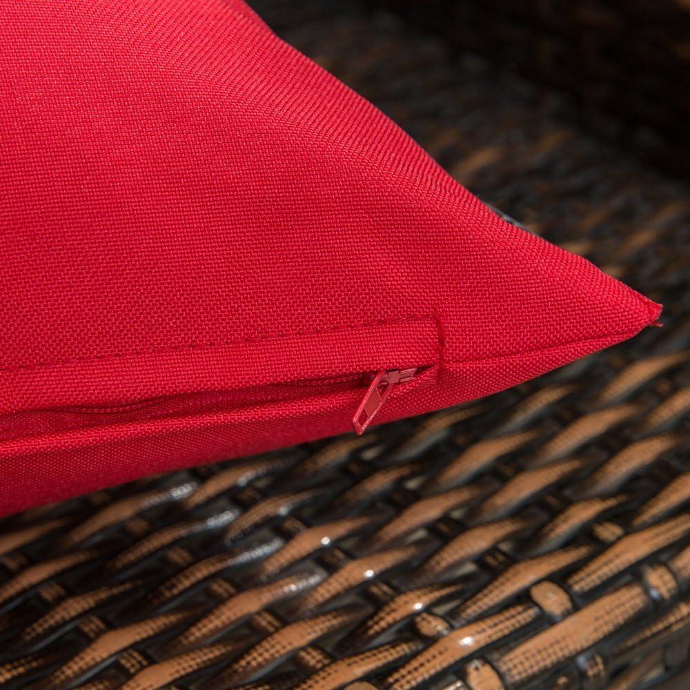 MIULEE 4 Piezas Aire Libre Fundas de Impermeable Cojines Almohada Caso de la Cubierta del Amortiguador Decorativo Duradero Decoraci/ón para Sof/á Balcones Camping12x20inch 30x50cm Amarillo