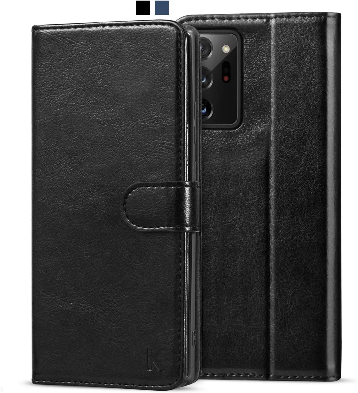 KILINO Galaxy Note 20 Ultra Wallet Case [S-Pen Fully Compatible] [RFID Blocking] [PU Leather] [Shock-Absorbent Bumper] [Card Slots] [Kickstand] Flip Folio Cover for Samsung Galaxy Note20 Ultra (Black)