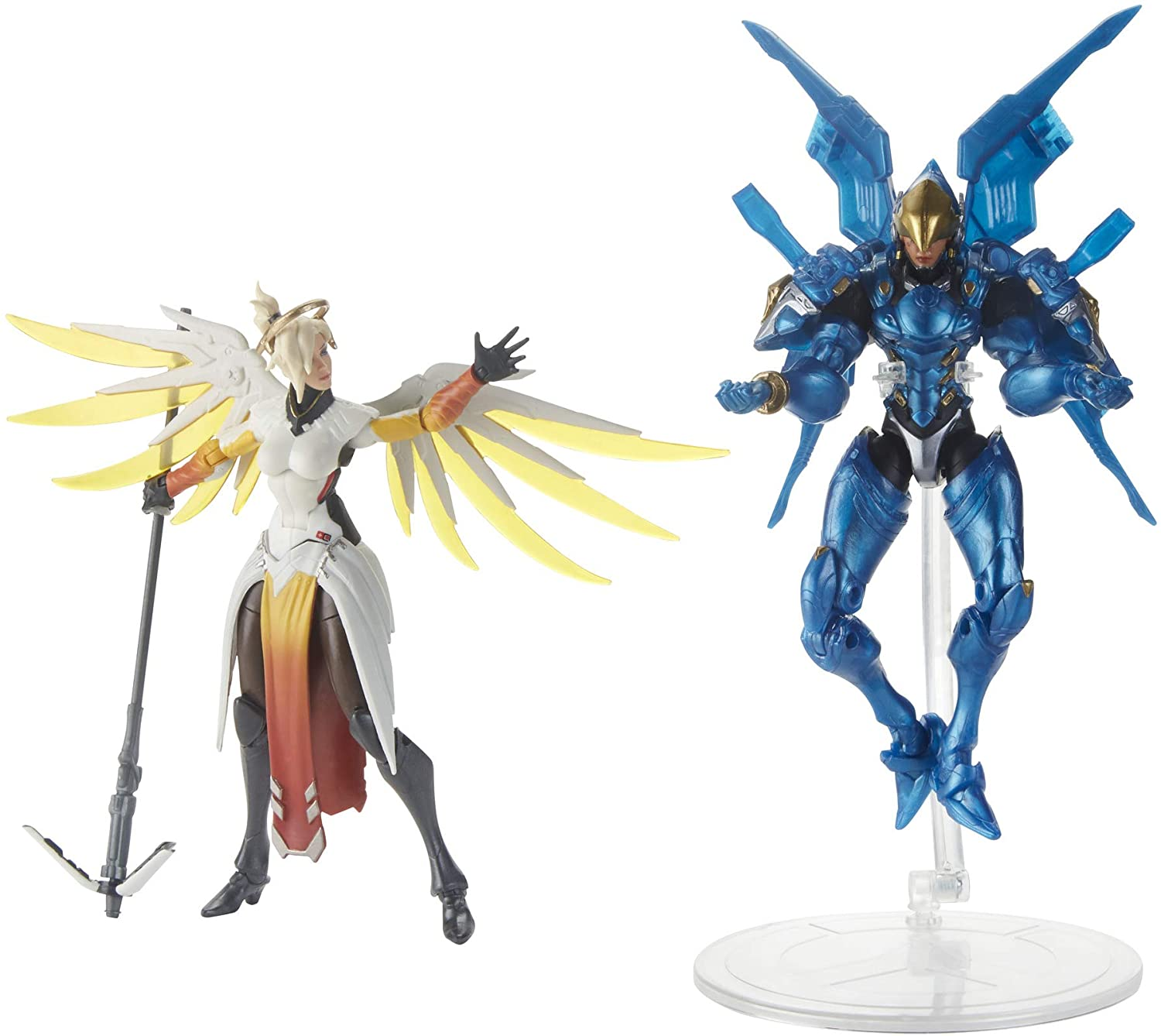20. Hasbro Overwatch Ultimates Series Pharah and Mercy Dual Pack - Collectible Action Figures with Accessories