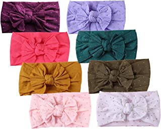 Baby Headbands Turban Knotted, Girl's Hairbands for Newborn,Toddler and Childrens (8Pack-CL20)
