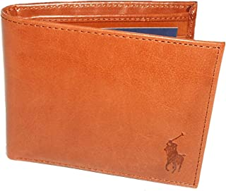 Polo Ralph Lauren Genuine Burnished Tan Leather Passcase Wallet