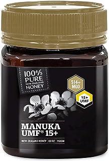 100% Pure New Zealand Manuka Honey, Certified UMF 15+ (MGO 514+) Raw Manuka Honey, 250 Grams