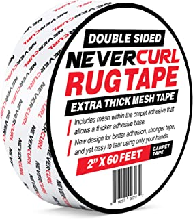 NeverCurl Double Sided Extra Thick Rug Tape with Mesh Fabric - 2