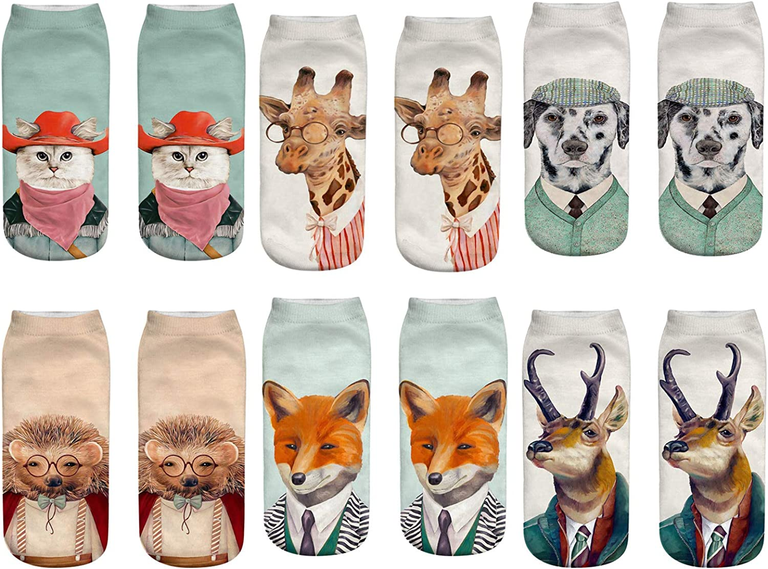 free Novelty 3D Print Ankle Socks for Kids Space A surprise price is realized Girls Mandala Women